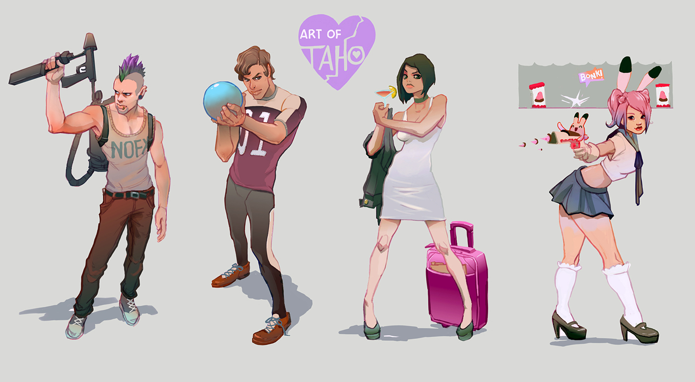 Character Design Set 1 On Behance