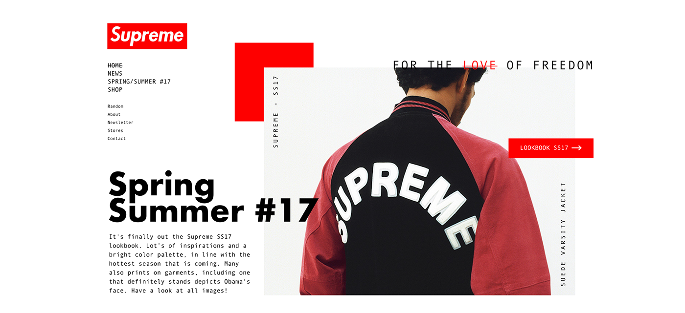 Supreme Shop Website