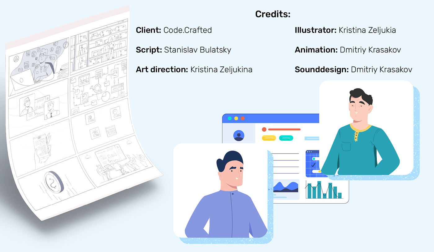2D 2d character animation  explainer flat Interface IT motion design SAAS video