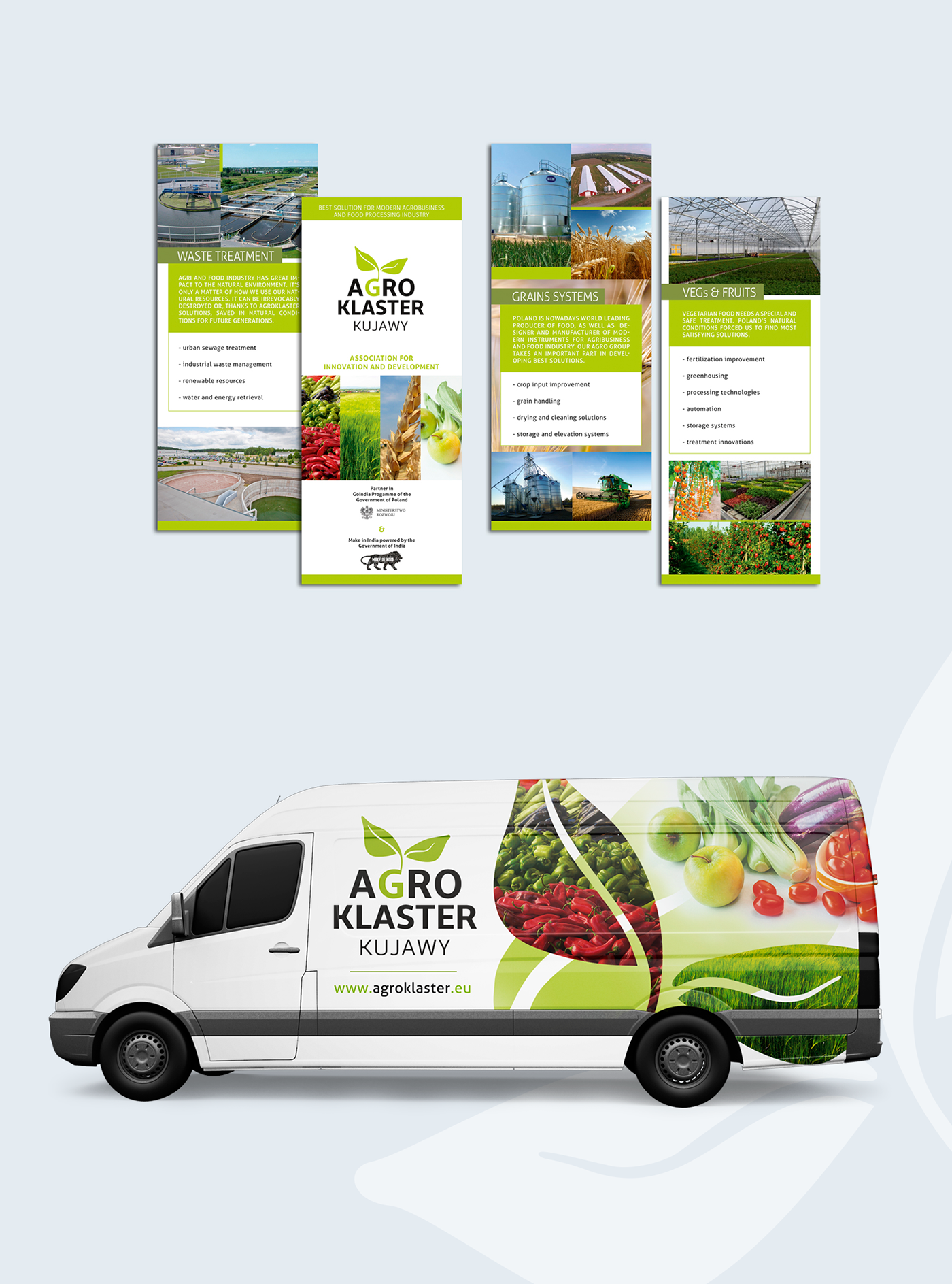 design identification flyers Agro rollup car wrapping