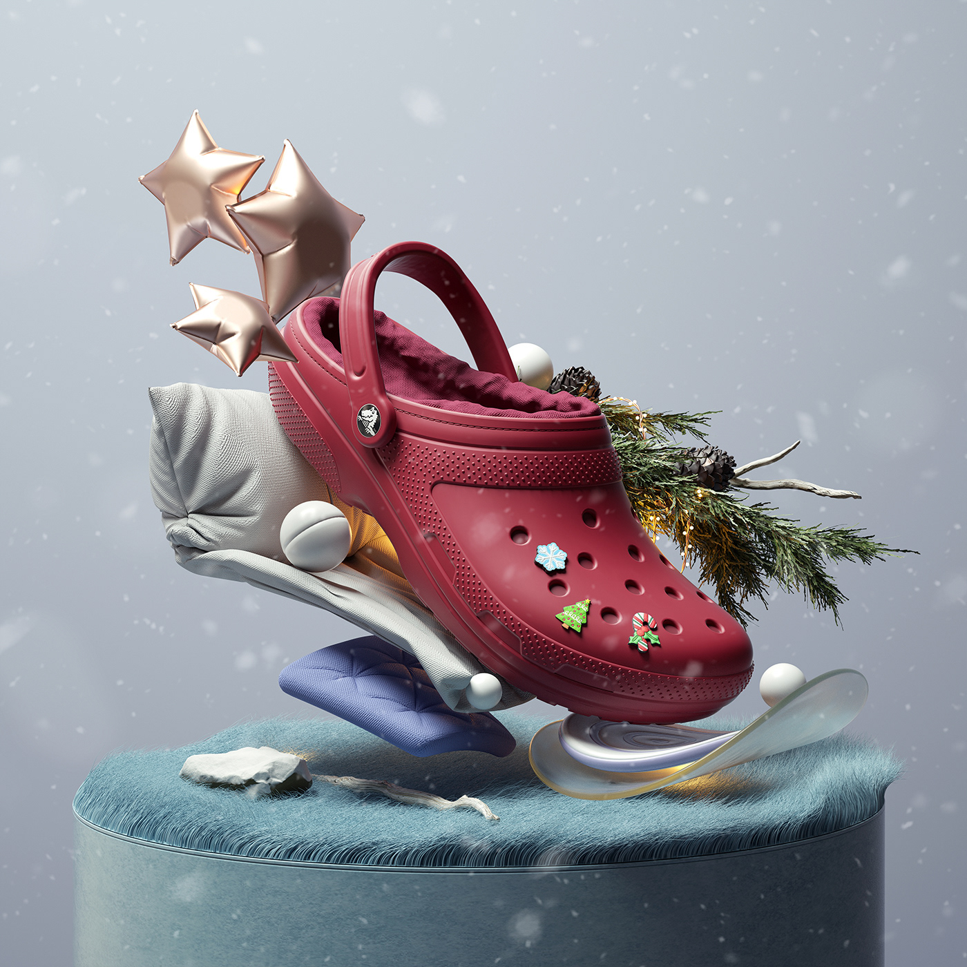 Crocs Shoes 3D design art modern cinema4d ILLUSTRATION  inspirations adobe composition