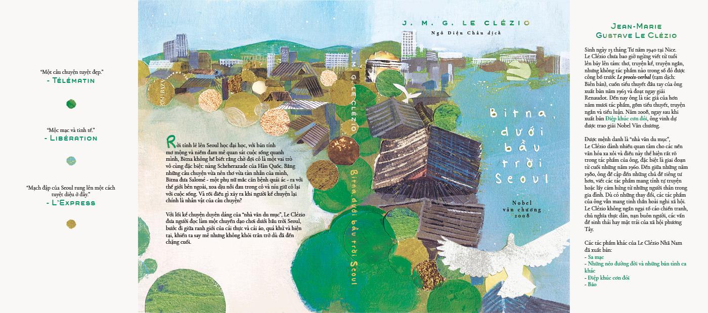 bird book collage cover design dove editorial Le Clezio pigeon
