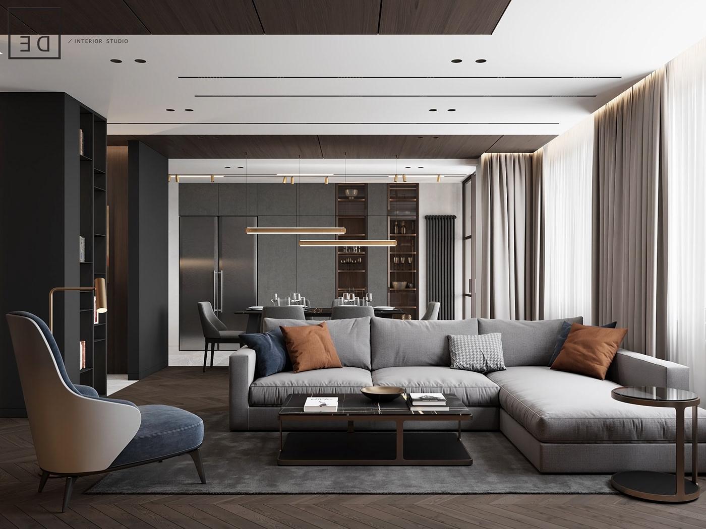 architecture architecture design corona render  DE&DE Interior Studio design Inetriordesign Interior Minimalism modern photoshop