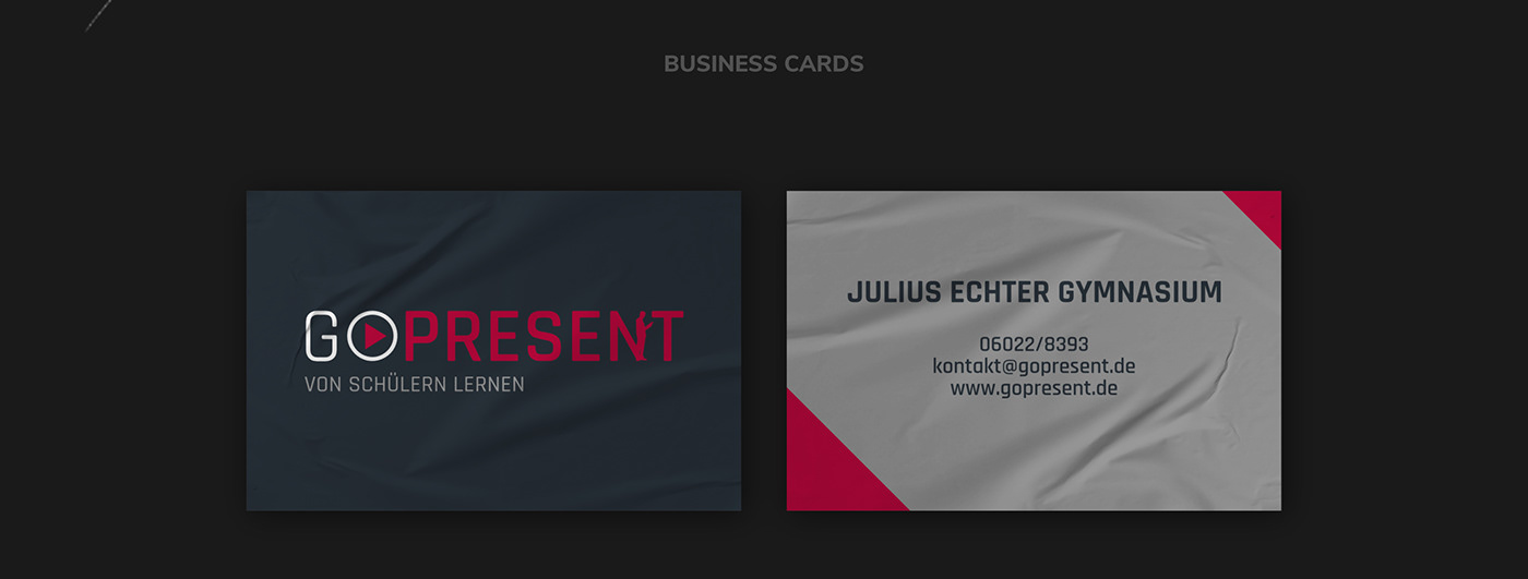 GO PRESENT // Business Cards