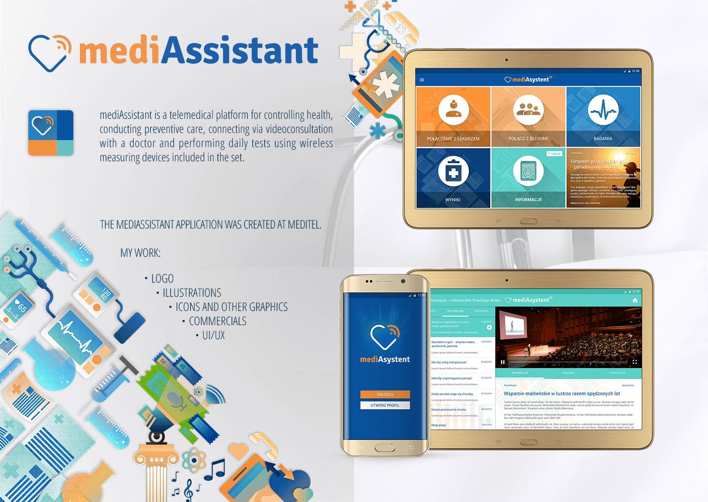 medicine Health TELEMEDICINE medical doctor patient UI ux app application