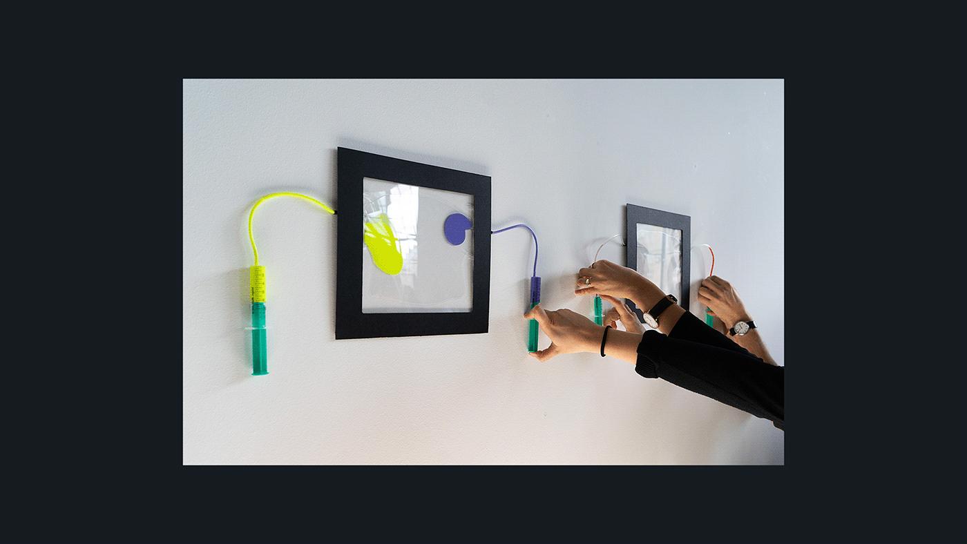 analog art color design installation interactive Interface plexiglass poésie poetic interface