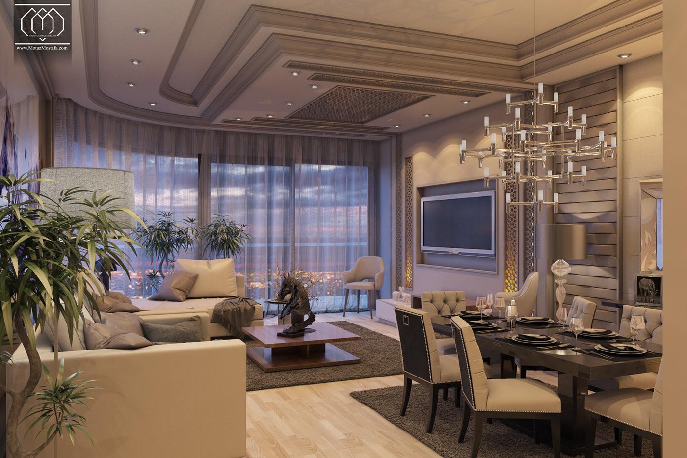 Inteiror Design inteiror design graphics visualization 3dsmax vray creative architecture Motaz mostafa