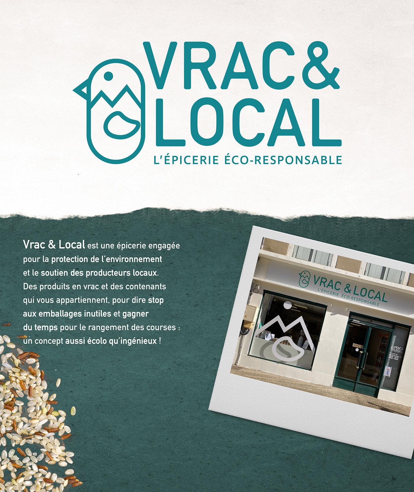 Desgin graphism identity local logo shop vrac YP