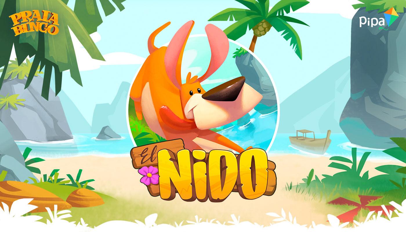 beach bingo dog game HUD mobile Nature Nido UI vfx