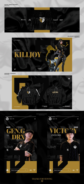 branding  esports eSports Graphics Esports Rebrand geng photoshop