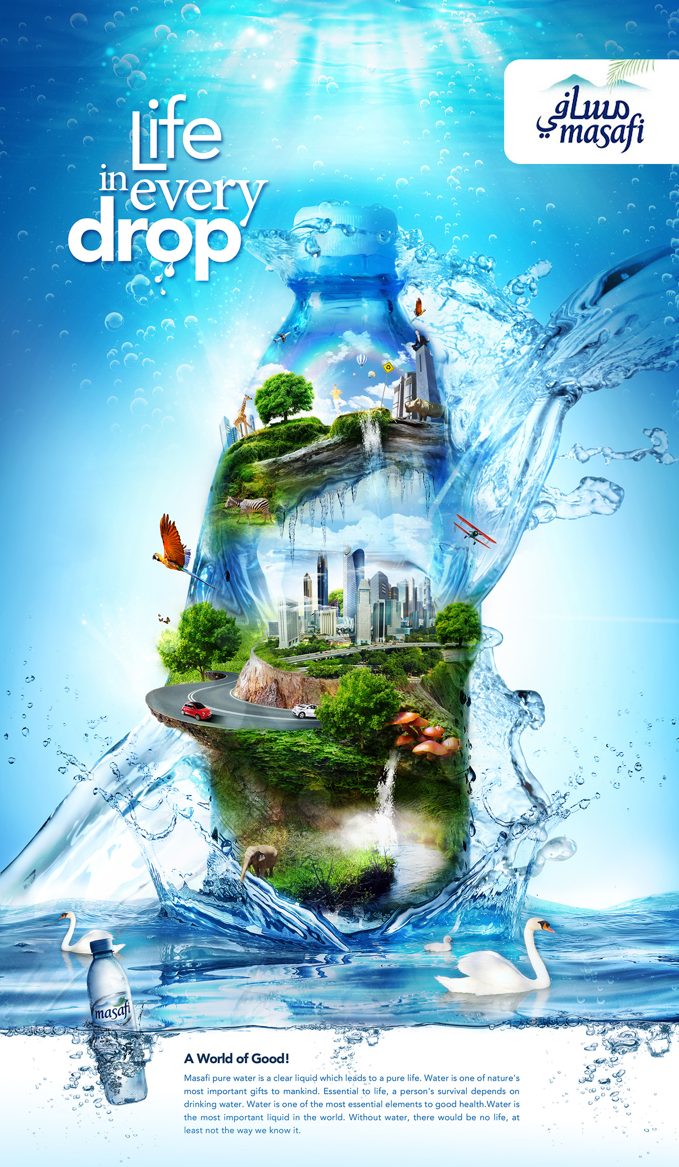 masafi mineral water on behance