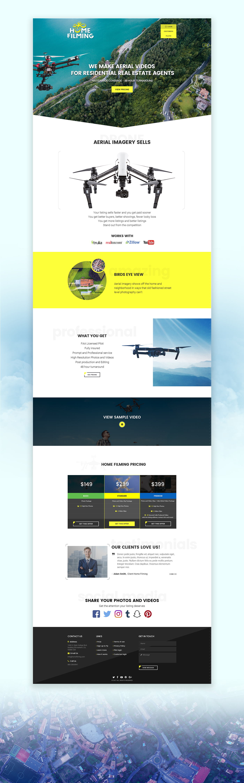 drone bold palette presentation website
