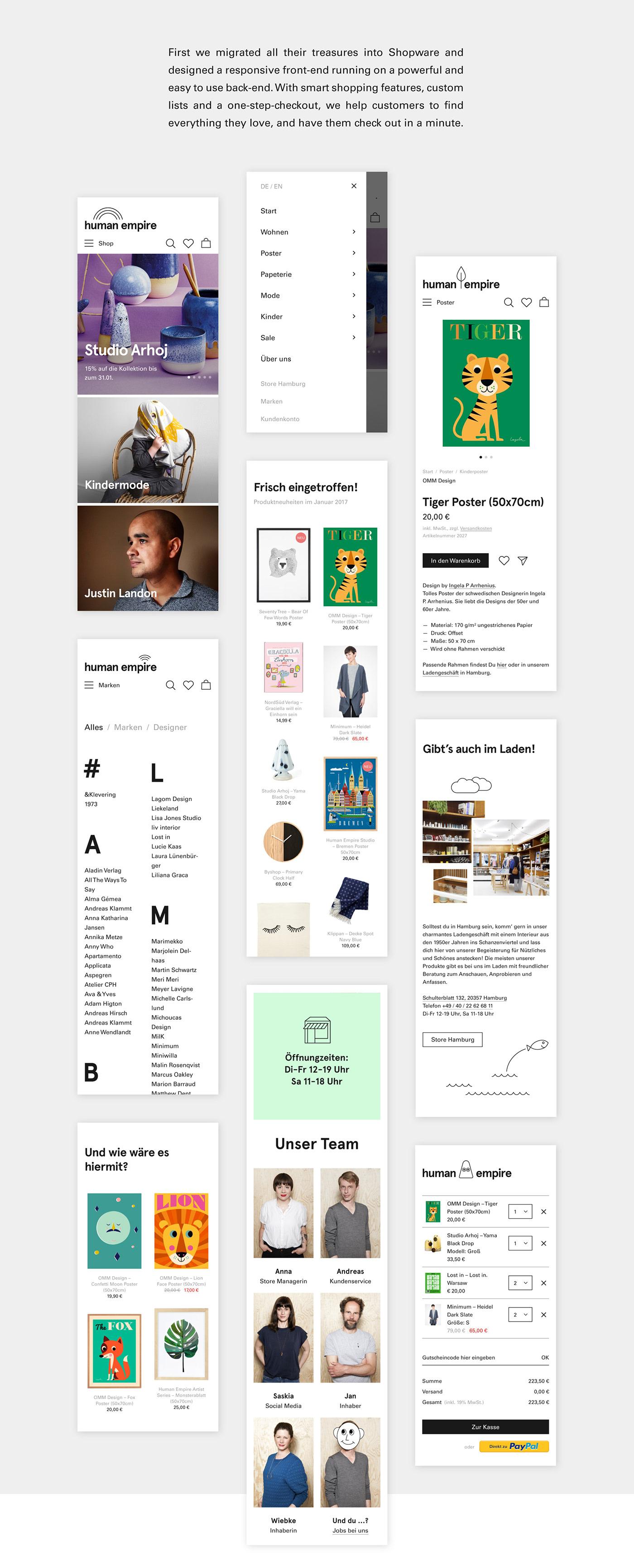 shop commerce webshop shopware Screendesign ILLUSTRATION  poster Website Webdesign