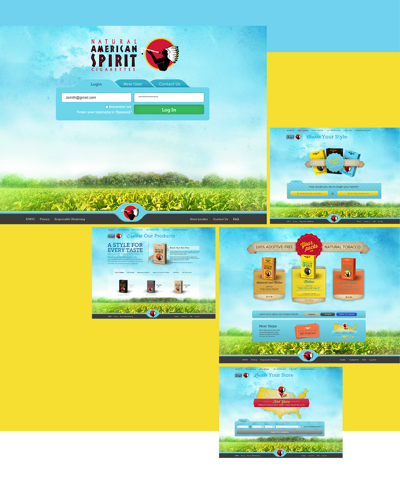 NAS Cigs natural american spirit cigarettes interactive Web tobacco