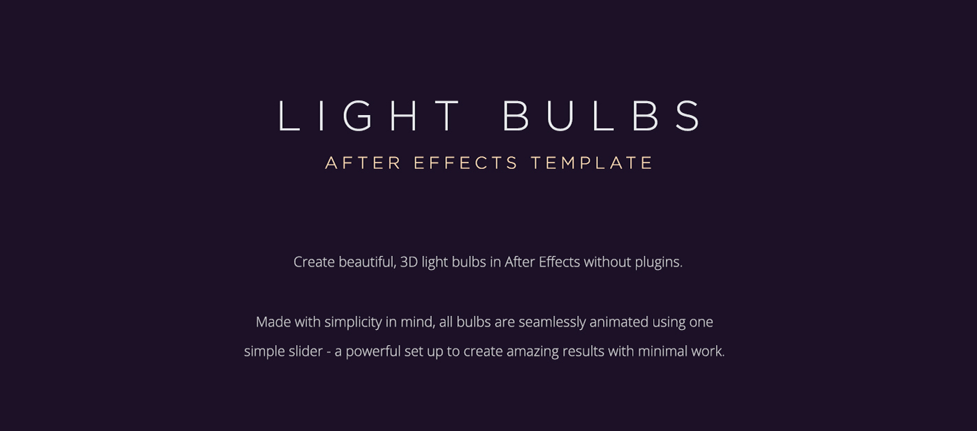 Light bulbs free after effects template on behance free after effects template maxwellsz