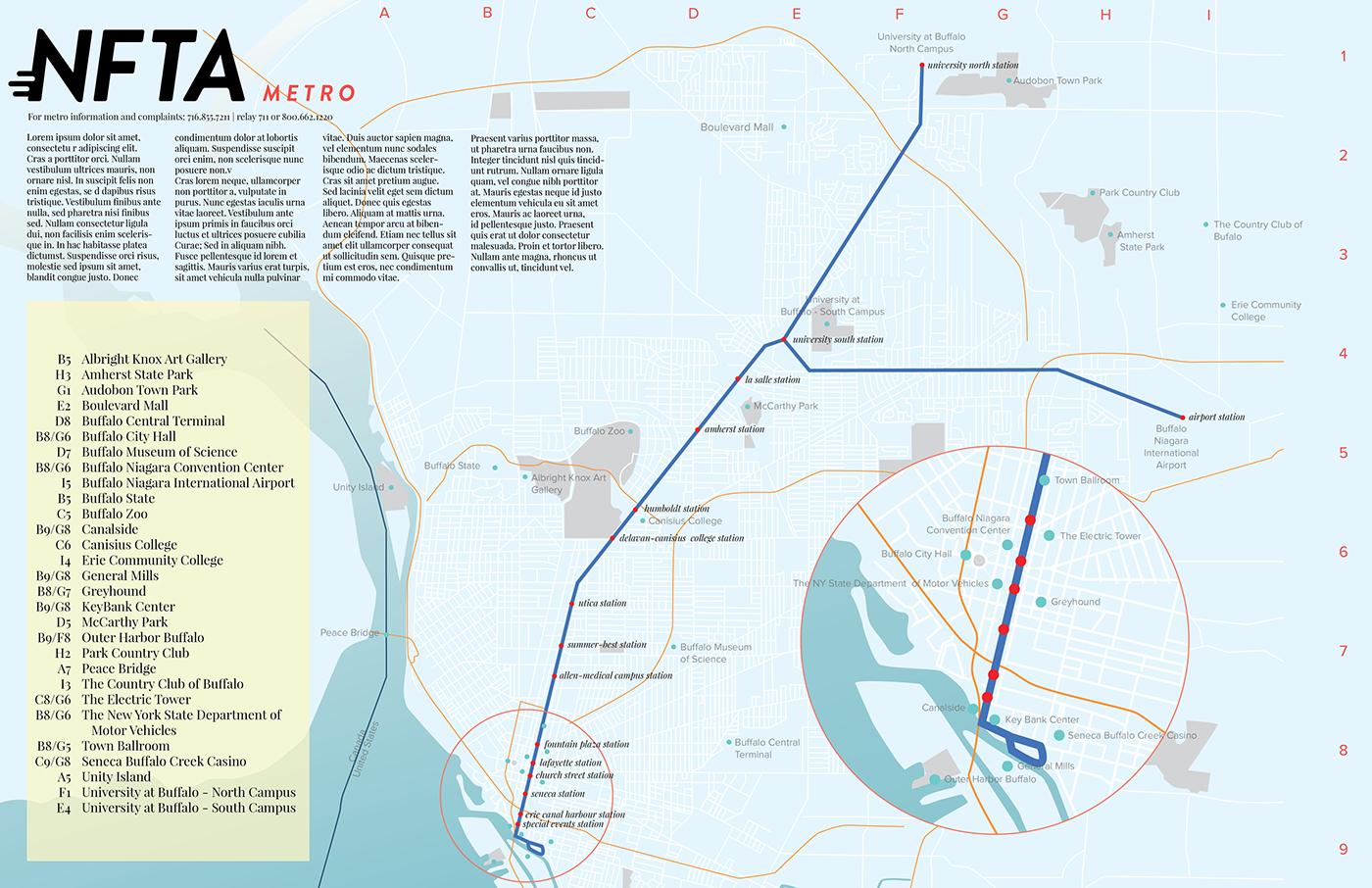 Buffalo Subway Map.Map Of Buffalo Metro On Behance