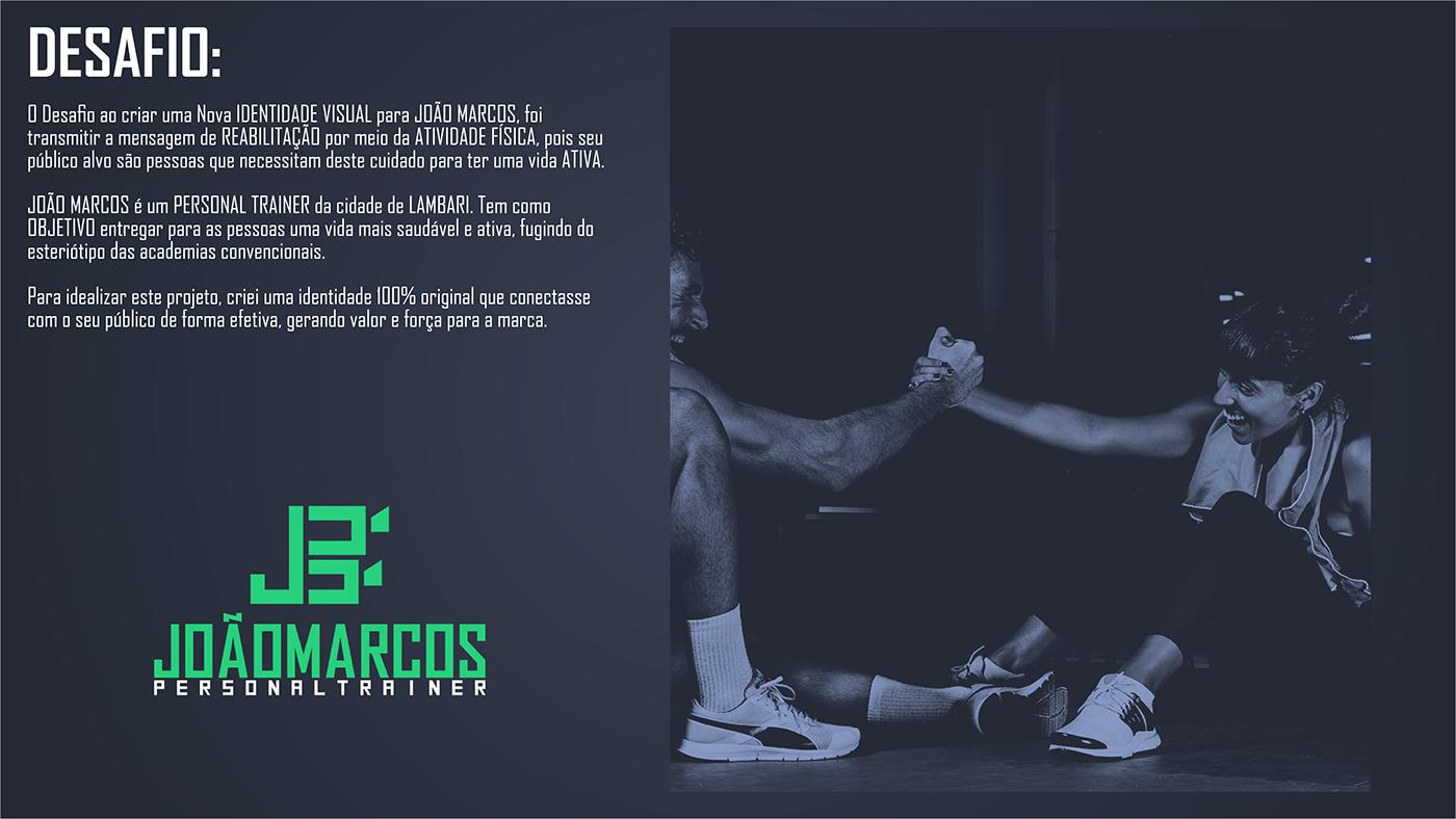 Atividade física fitness gym Health identidade personal trainer visual workout