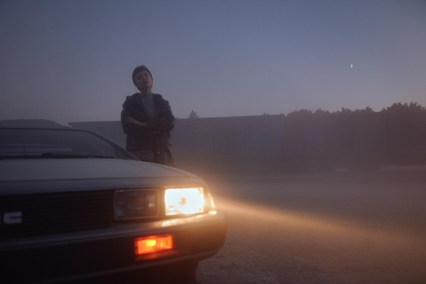 automotive  ,car,DeLorean,Scifi,back to the,future,DAWN,science fiction,blue hour,classic car