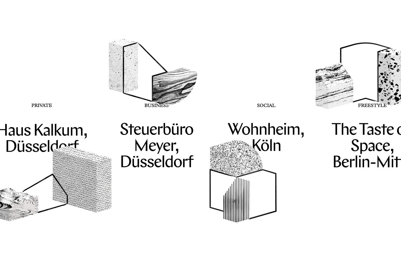 Interior architecture Isometric grid typography   sketch material blackandwhite Logotype digital