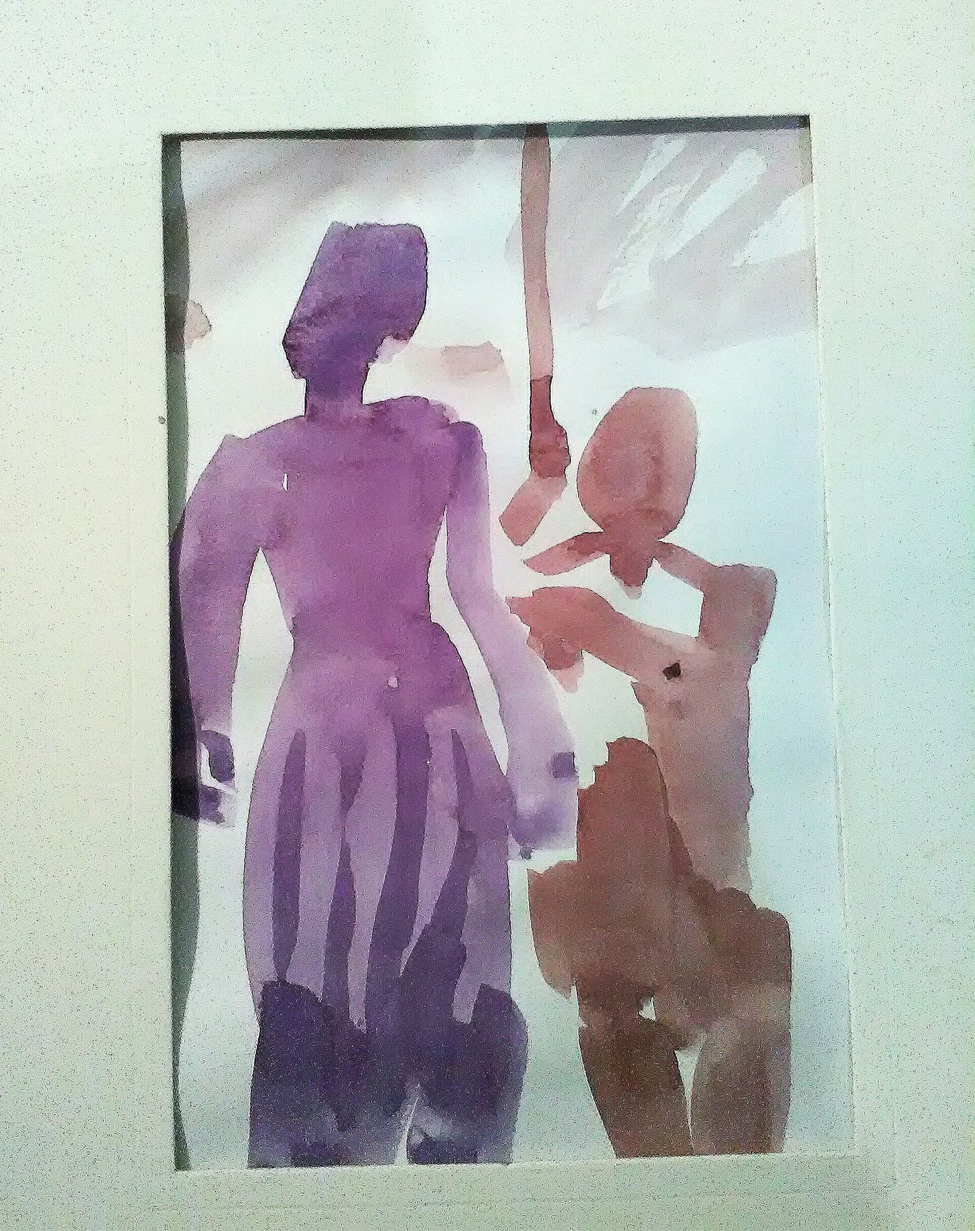 Image may contain: drawing, painting and wall
