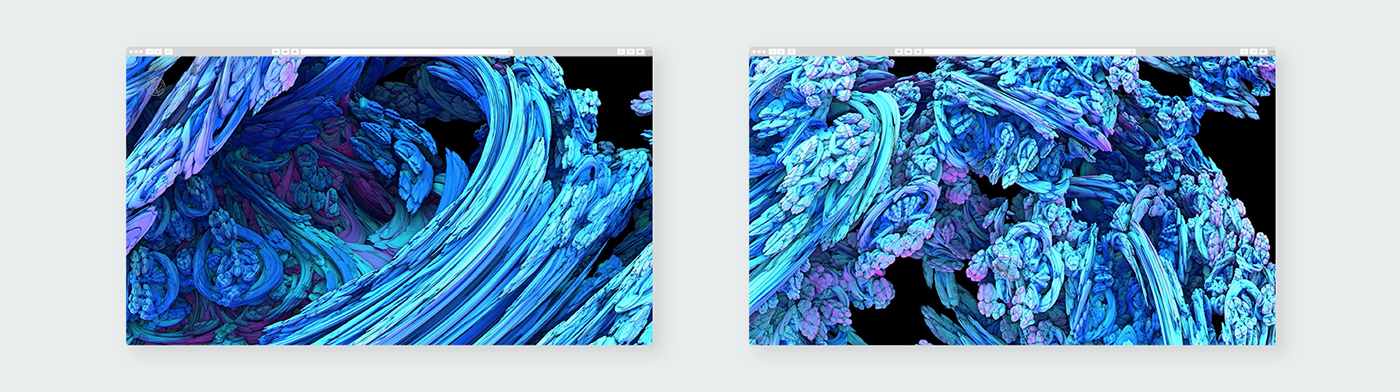 design graphic Web Interface gallery fractal abstract art UI ux