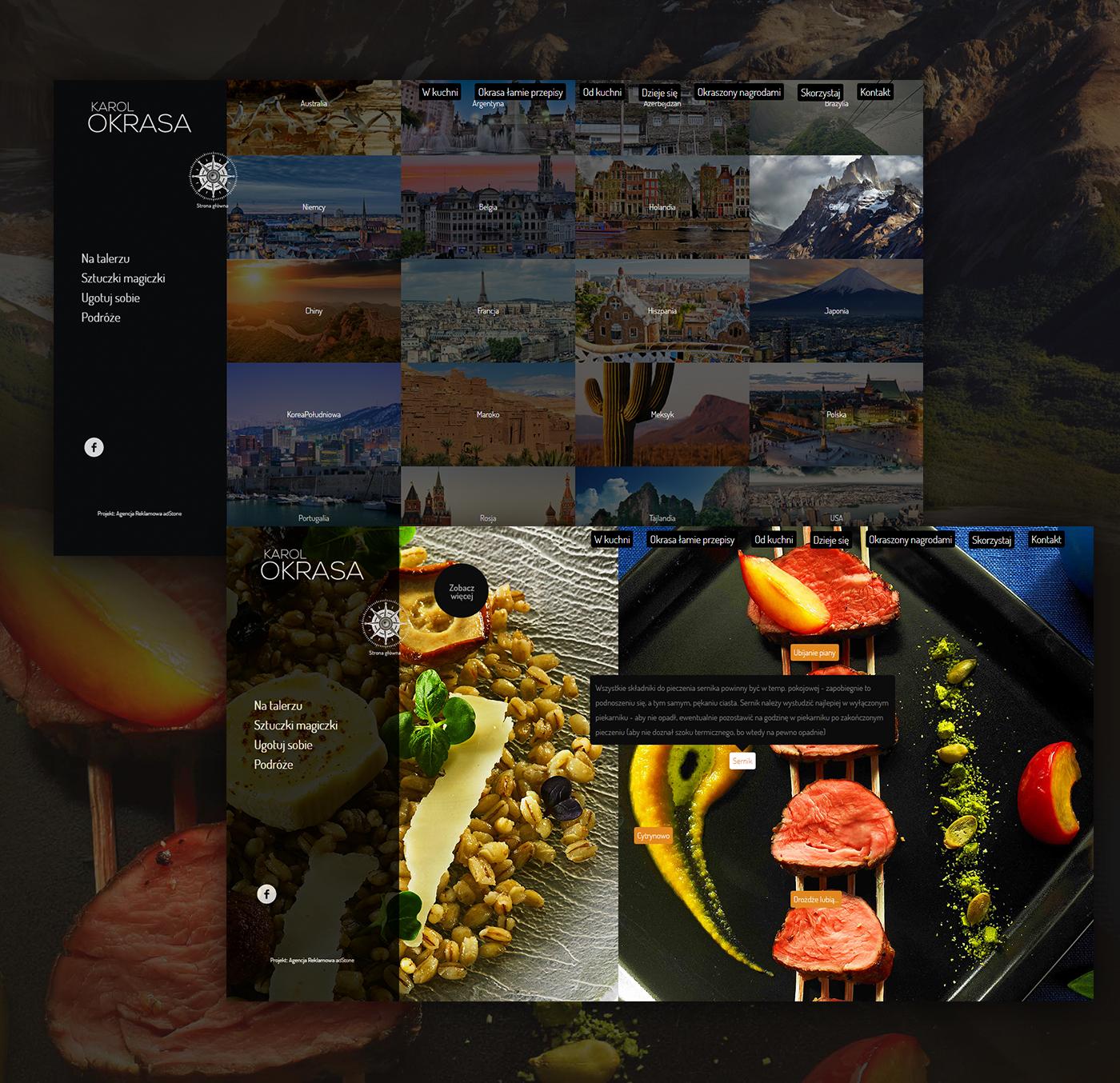 Web Design  graphic design  graphic Website kitchen Food  ux