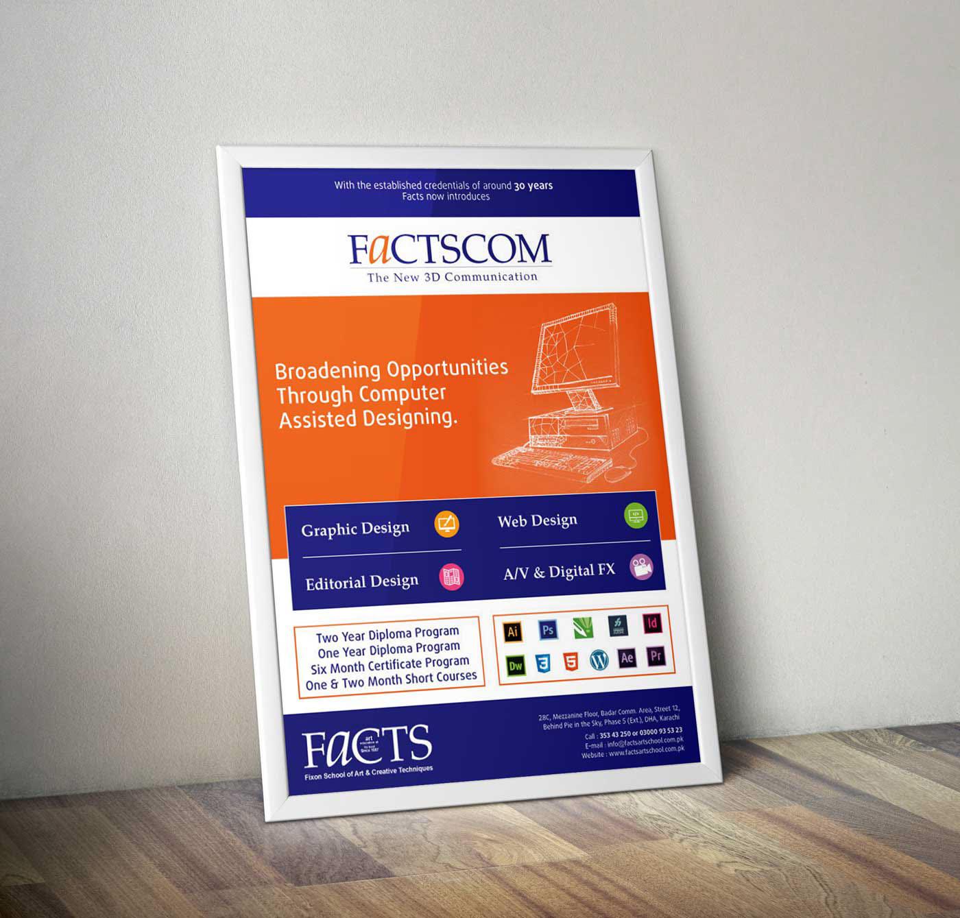 graphic design poster Facts school Fixon art creative Techniques print
