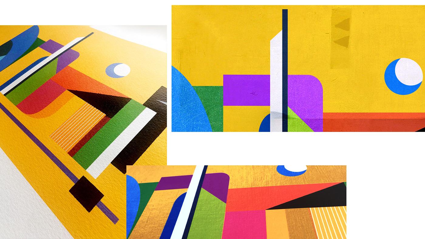 BAGHDAD iraqi iraq illustrations abstract graphic art print Inkjet Printing print making