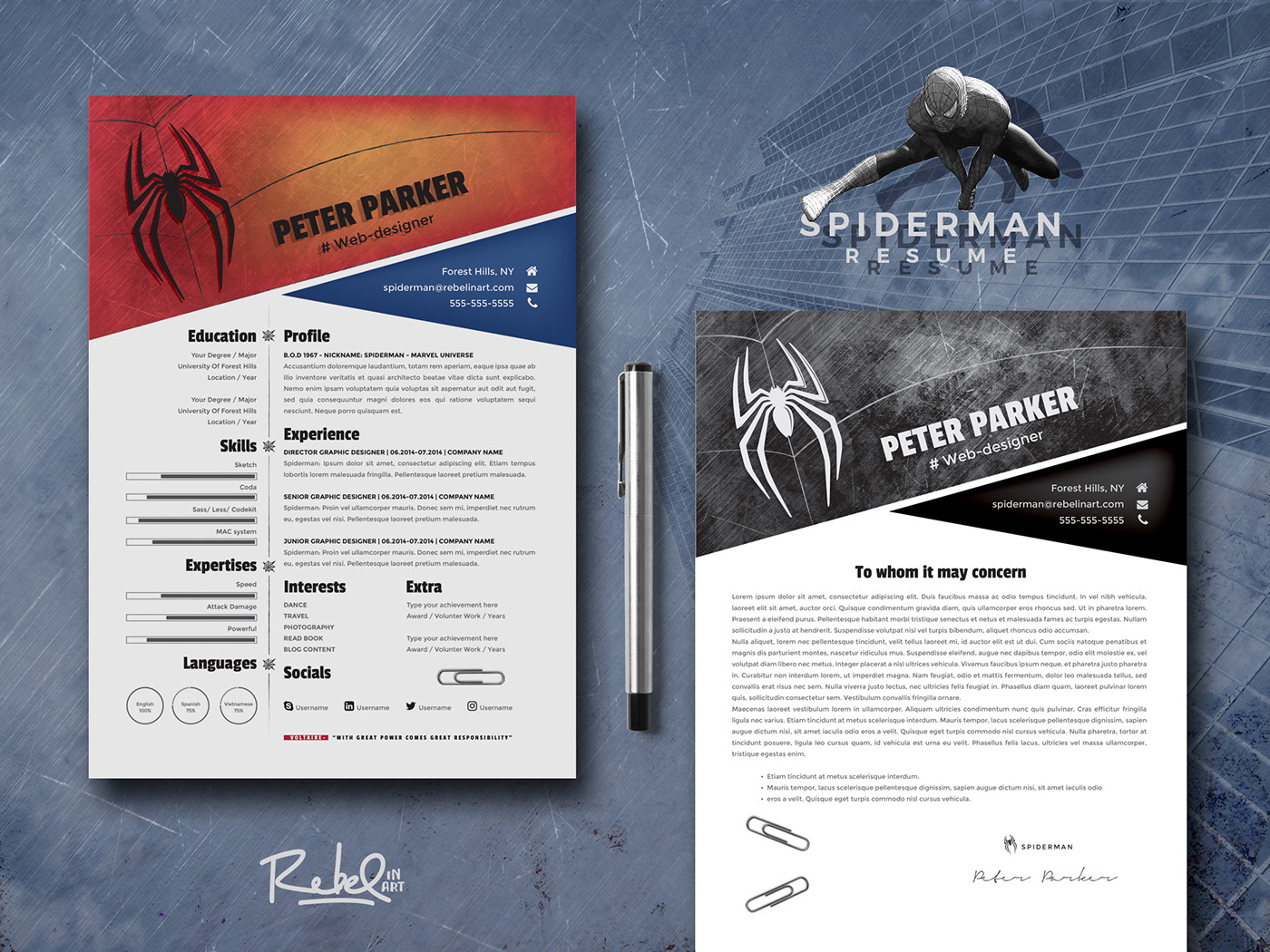 spiderman resume