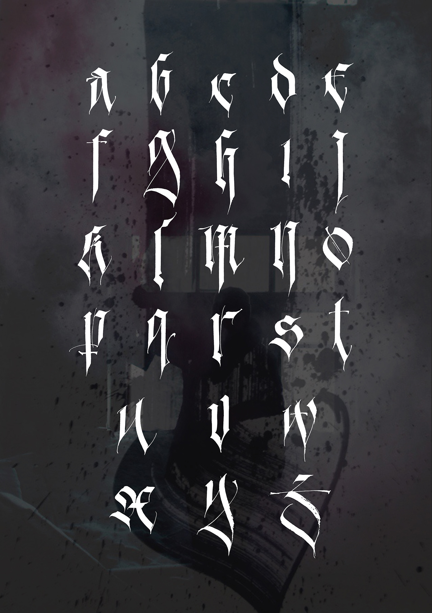 Contemporary Gothic Alphabet On Behance