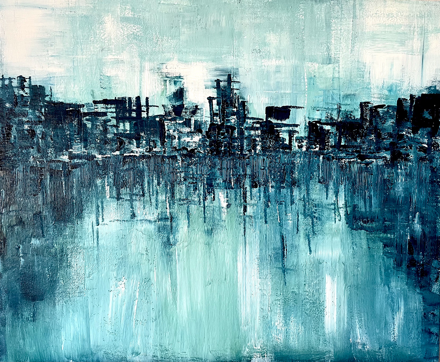 abstract city cityscape Colourful  Dystopia Dystopian Landscape lights neon night reflection Semi Abstract Street streetscape tokyo water