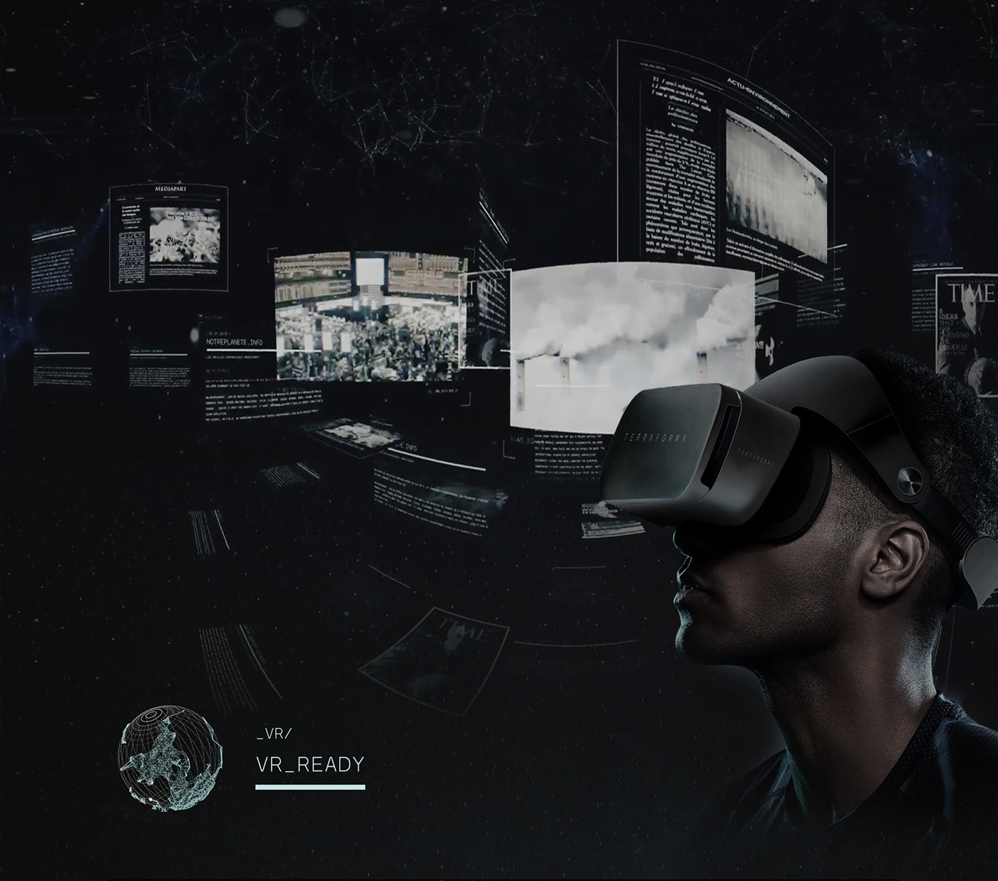 Experience Dystopia vr webgl Web science-fiction future Nature