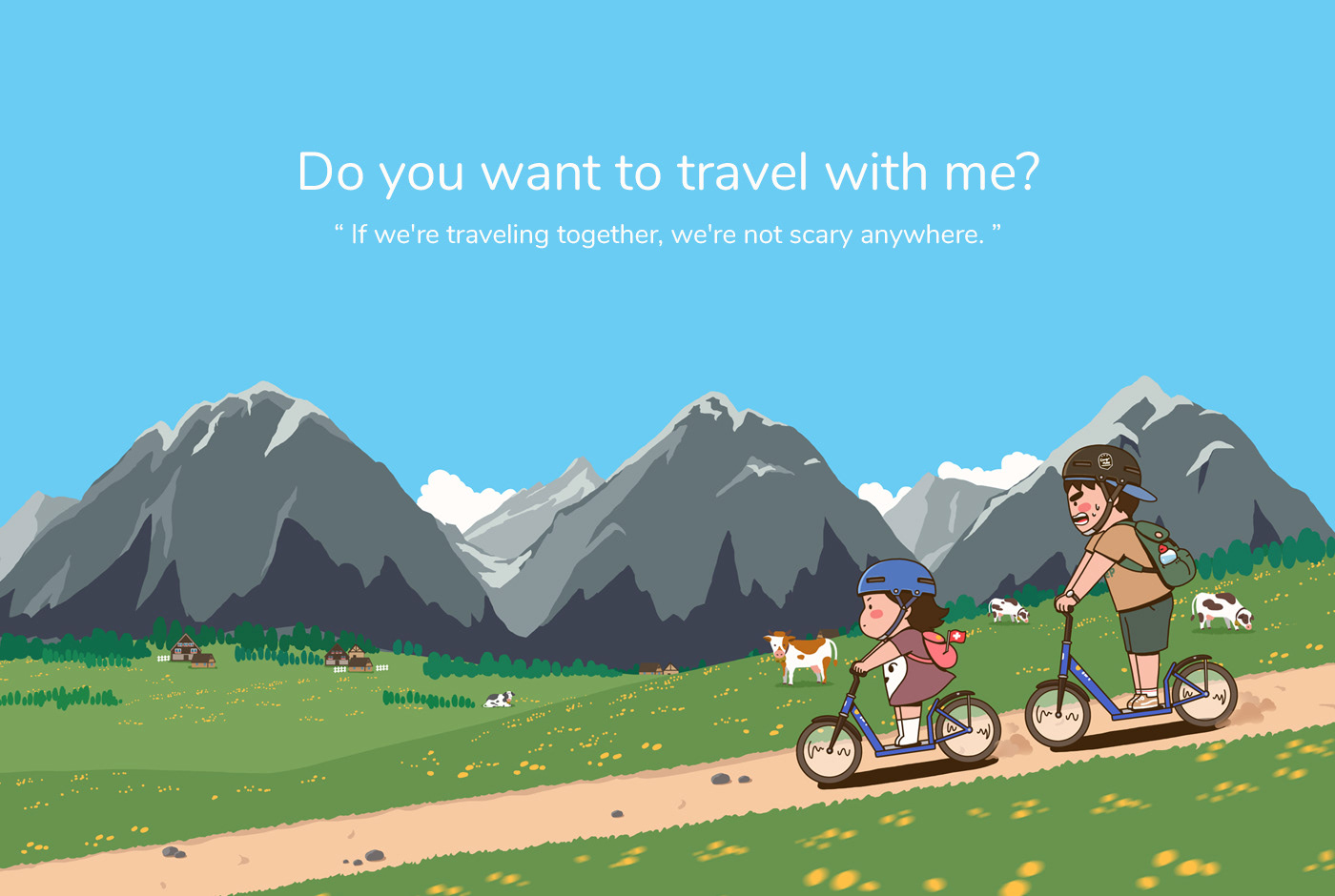 carrygrow ILLUSTRATION  productdesign Travel trip contetns Character graphicdesign package