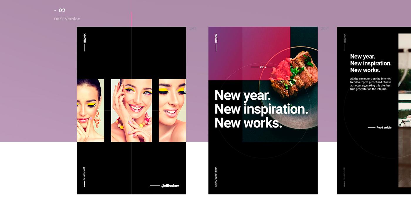 social media pack posts Pinterest instagram facebook banner Social Banner free trend marketing