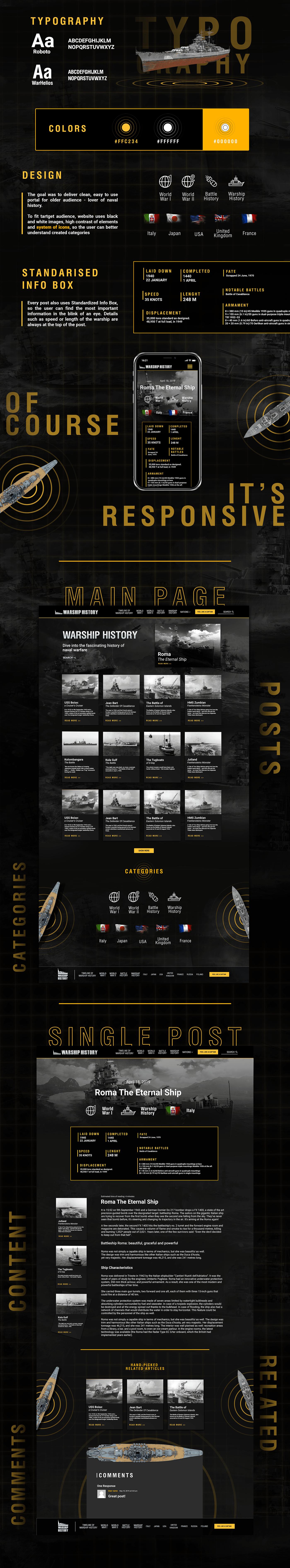 warship warships history naval sea Website Blog microsite Experience wargaming