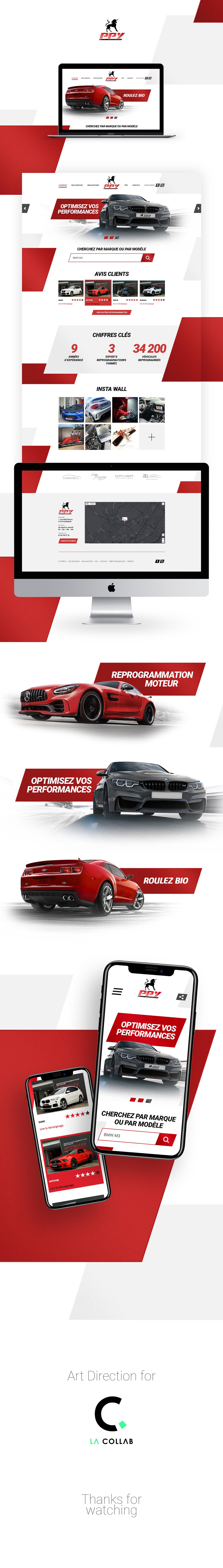 ArtDirection car engine HTML photoshop sport voiture Website