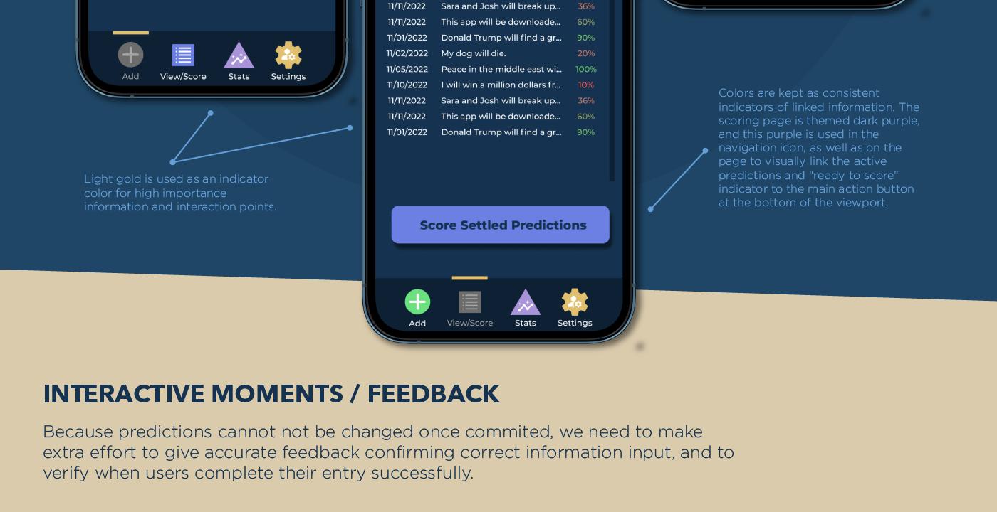app design graphic design  Jacob Michelini mobile prediction UI ux