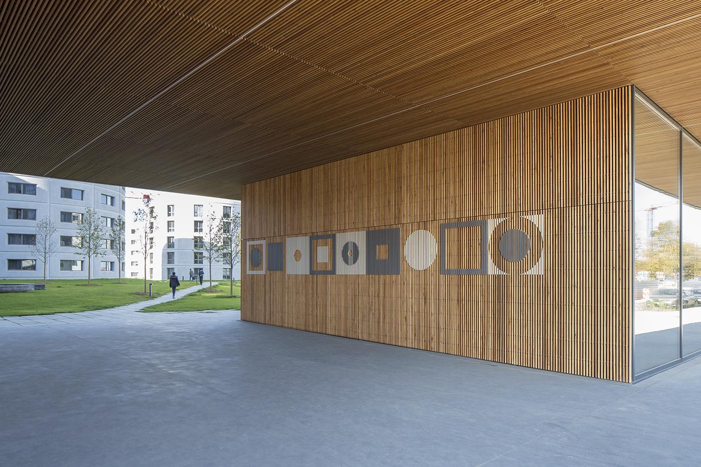 signalétique université Paris-Saclay étudiant Lan architecture bouygue linkcity