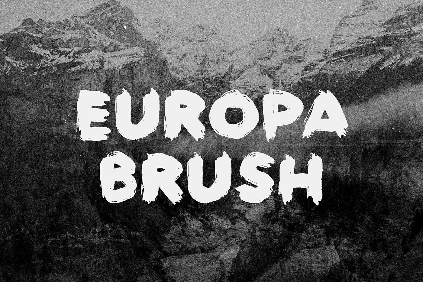 europa brush free textured brush font on behance