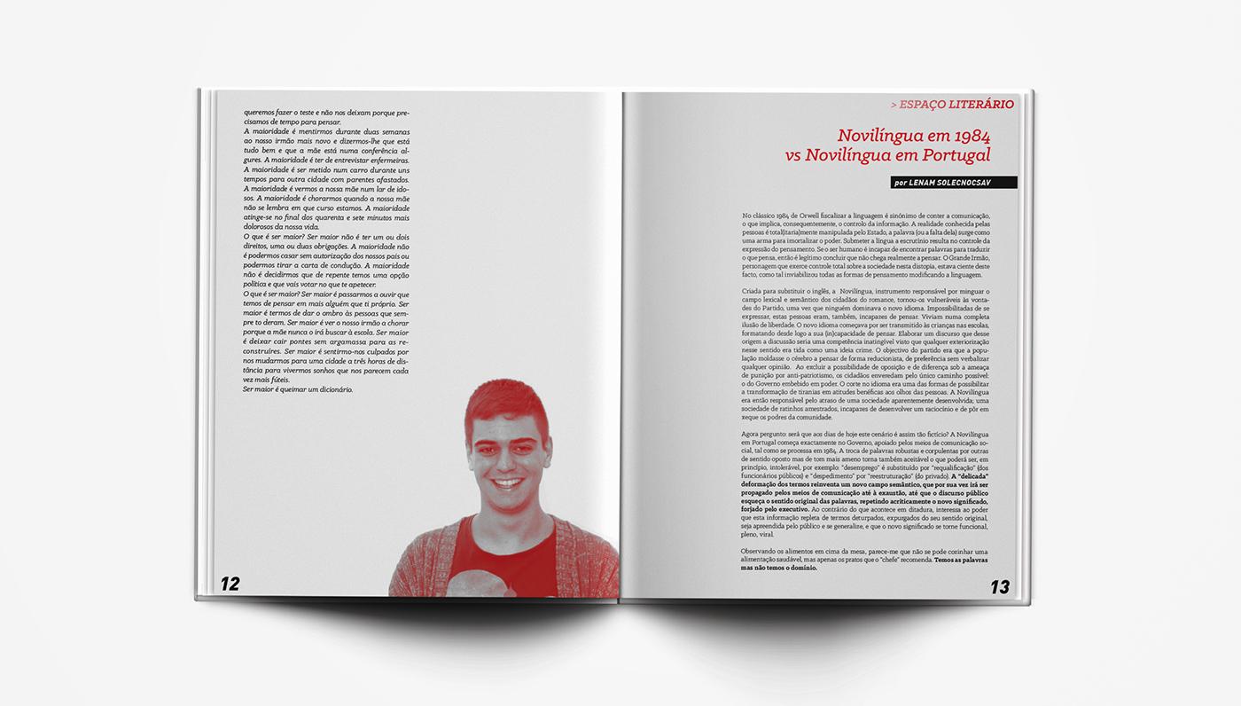 editorial design  jornal newspaper magazine Photography  typography   paginação