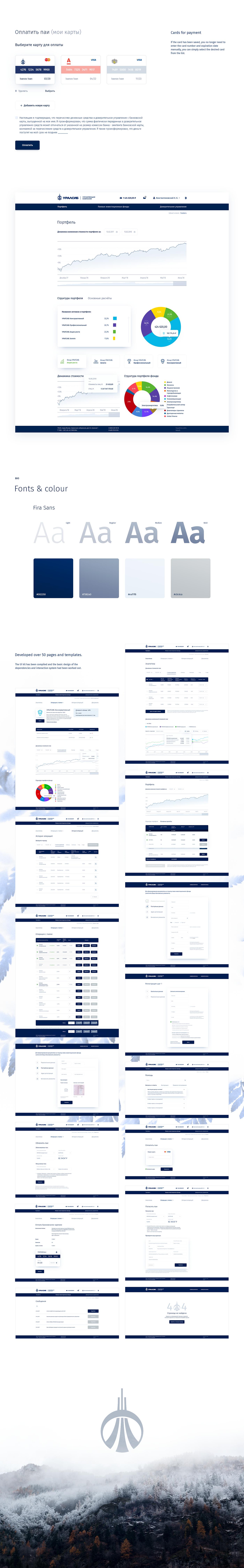 Bank Uralsib UI ux Webdesign design dashboard interaction personal area