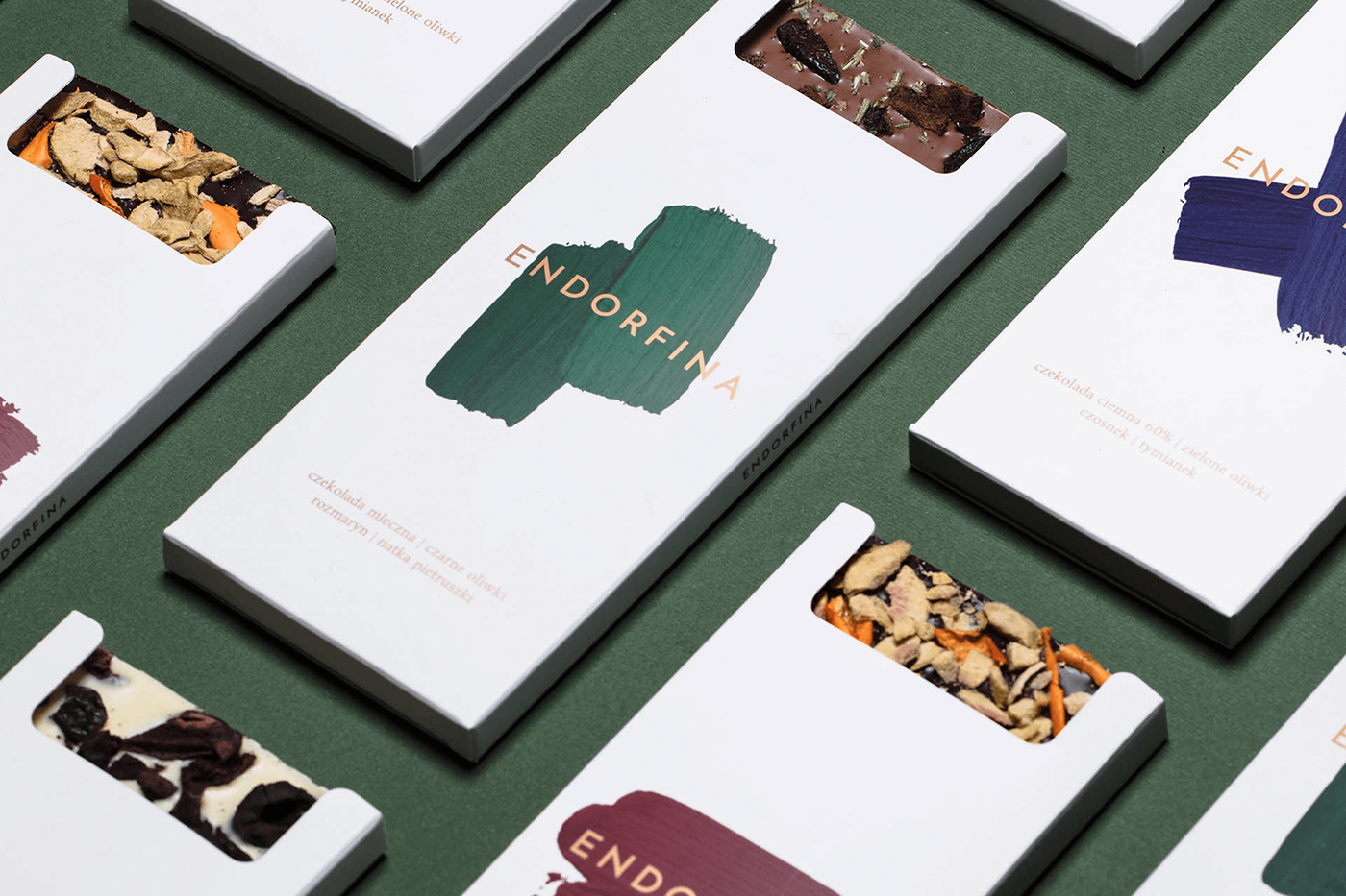 Packaging design and branding: Endorfina