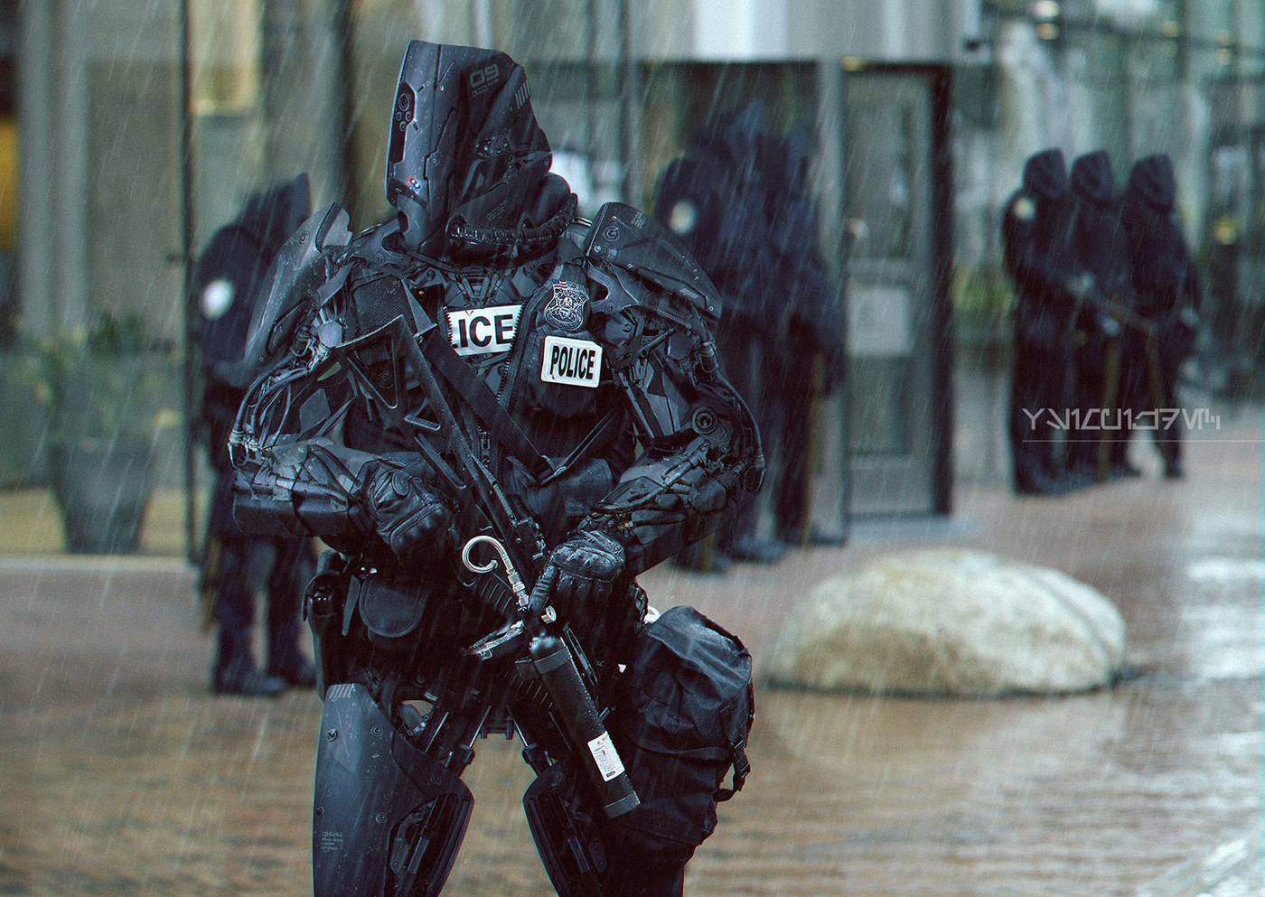 Futuristic Police Robot Concept On Behance