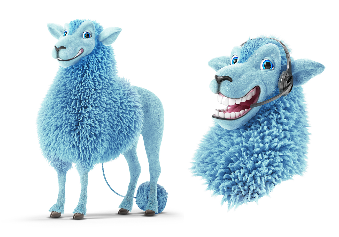 Character Design Site : Baa rney the sheep d furry character breakdown on behance
