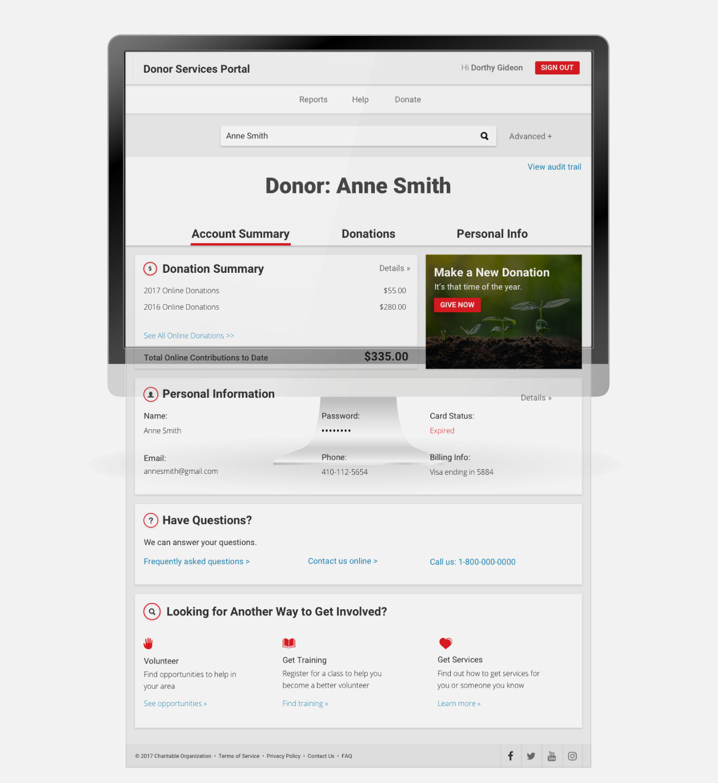 UI ux app design non-profit donation site