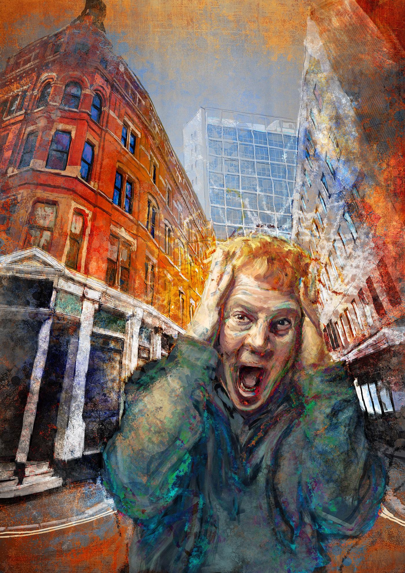 MunchContest Digital Art  digital painting photoshop the scream Edvard Munch