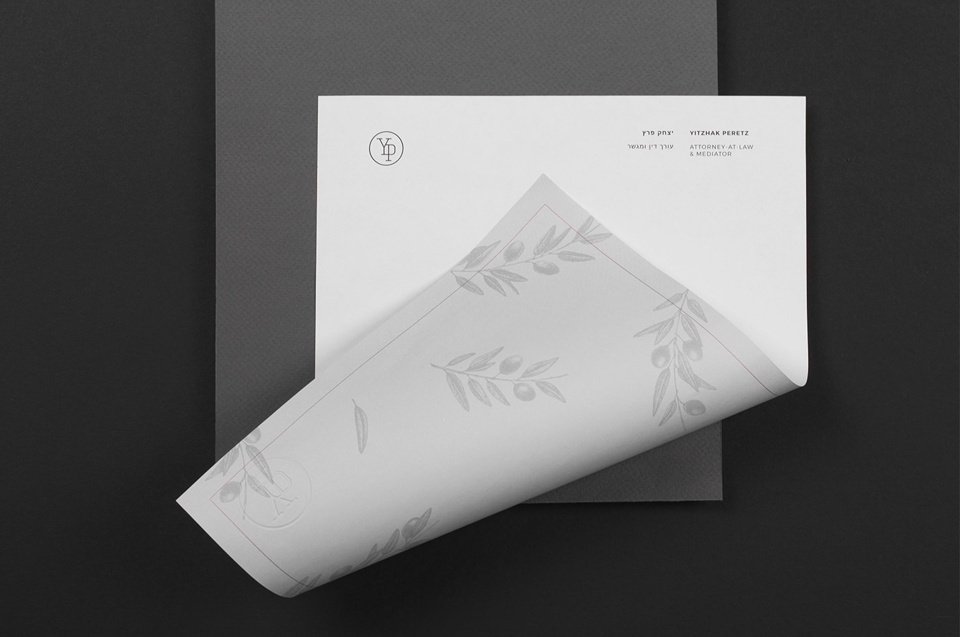 identity lawyer attorney law real-estate israel logo gold foil foil print luxury high-end minimal Marble stone wood