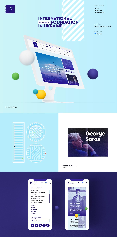 Web UI case Kyiv deco.agency wordpress creative design soros AWWWARDS