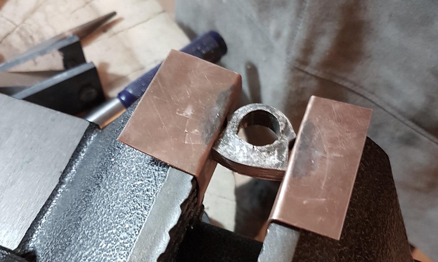 mokume ring japanese forge traditional silver copper Mokumegane fusion jewelry