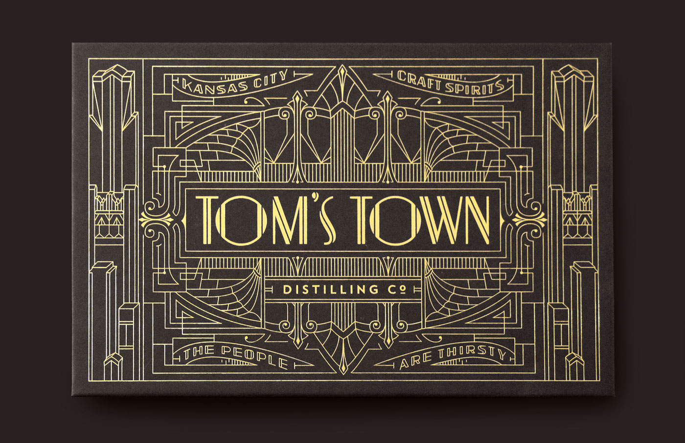 Tom's Town Art Deco Branding